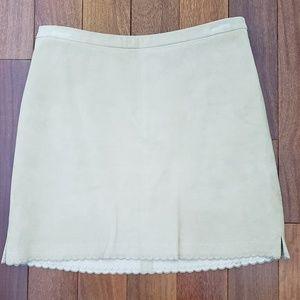 BCBG Suede Miniskirt